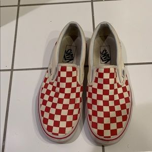 Red checked vans
